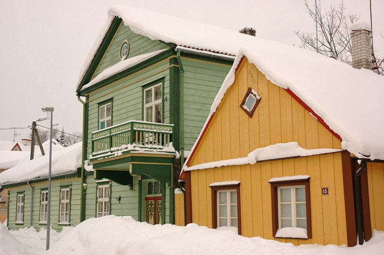 Wooden Houses, Viljandi, Estonia