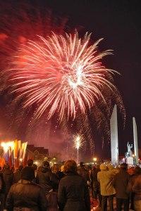 Fireworks, Gagarin Park, Orenburg, Orenburg Region, Russia