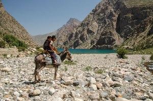 Tajik Boys, Hazor Chashma Lake, Sughd Region, Tajikistan