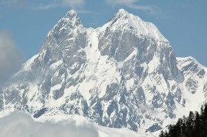 Mt Ushba (4690 m), Samegrelo-Kemo Svaneti Region, Georgia