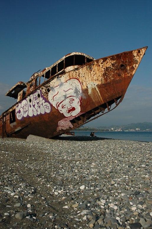 Beached Ship, Sukhumi, Abkhazia