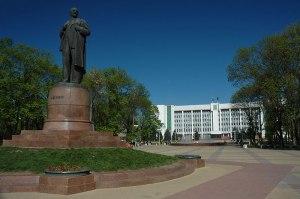 Lenin Square, Maykop, Adygea Republic, Russia