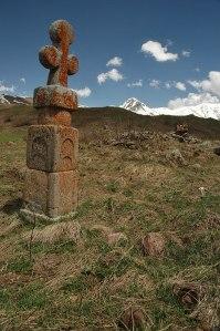 Gravestone, Nizhny Yerman, South Ossetia