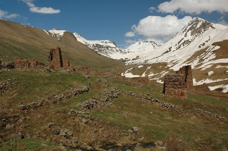 Ruins of Verkhny Yerman, South Ossetia