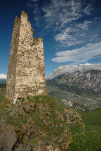 Ruined Siege Tower, Dagom, North Ossetia-Alania Republic, Russia