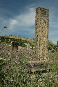 Gravestone, Derbent, Dagestan Republic, Russia