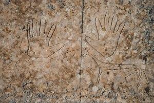 Petroglyphs, Beysenbay Necropolis, Kamgystau Region, Kazakhstan