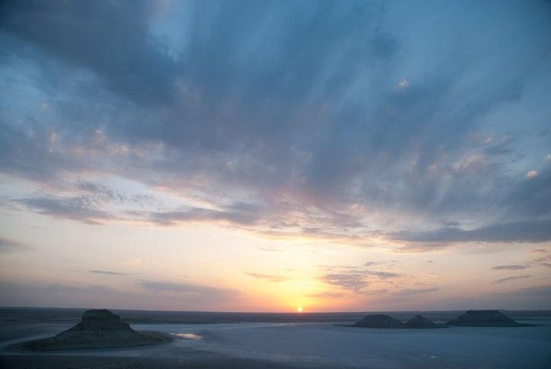 Sunset, Karyn Zharyk Depression, Mangystau Region, Kazakhstan