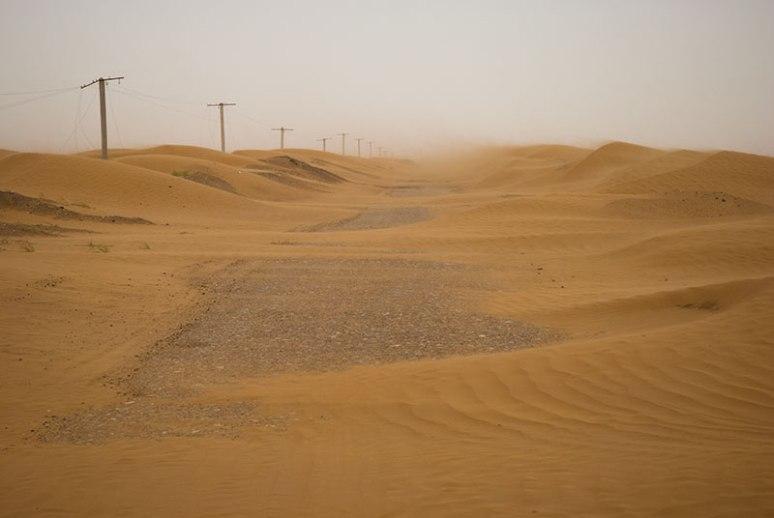 Desert Road, near Irkli, Balkan Region, Turkmenistan