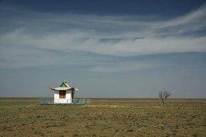 Temple, near Komsomolskiy, Kalmyk Republic, Russia