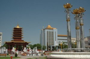 Lenin Square, Elista, Kalmyk Republic, Russia