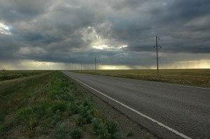 Steppe Road, near Atbasar, Akmola Region, Kazakhstan