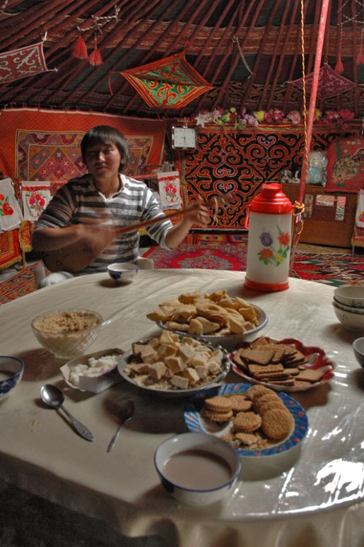 Kazakh Dombra-Player, Bulgan, Bayan-Ölgii Province, Mongolia
