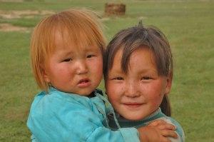 Mongol Girls, Altai, Khovd Province, Mongolia