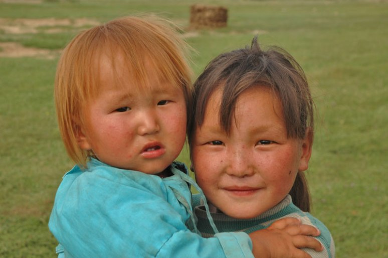 Mongol Girls, Altai, Khovd Province, Mongolia