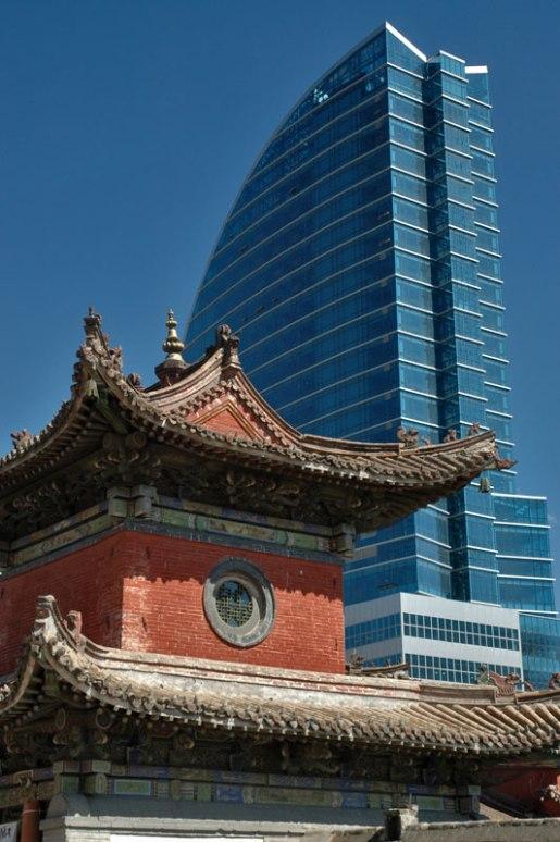 Choijin Lama Temple and Blue Sky Building, Ulaanbaatar, Mongolia