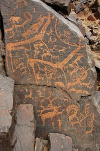 Bayangiin Nuruu Petroglyphs, Bayankhongor Province, Mongolia