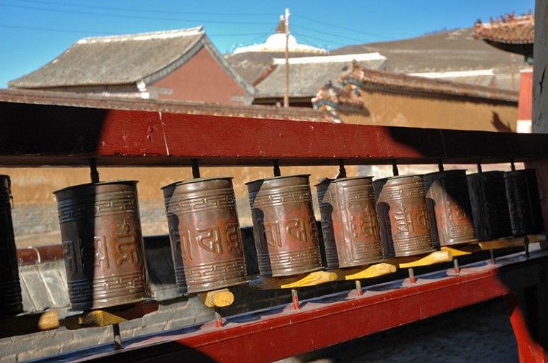 Prayer Wheels, Amarbayasgalant Monastery, Selenge Province, Mongolia