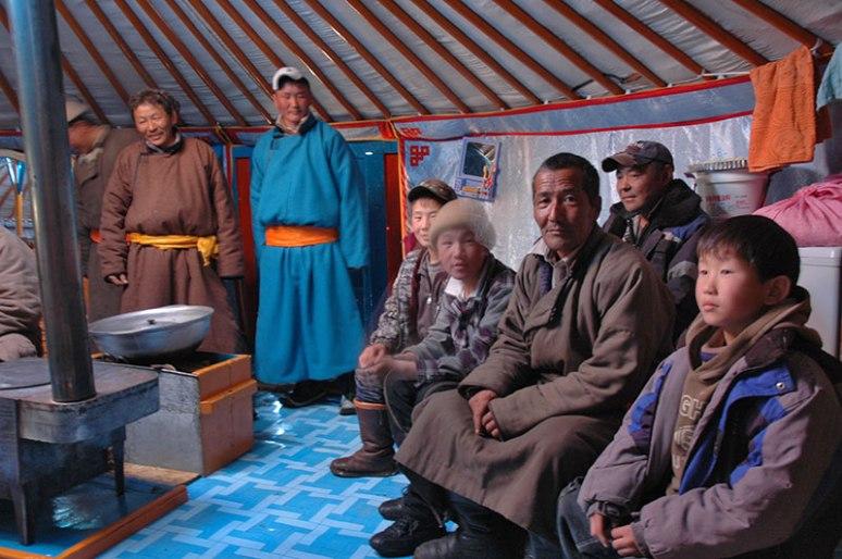 Mongol Family, near Asgat, Zavkhan Province, Mongolia