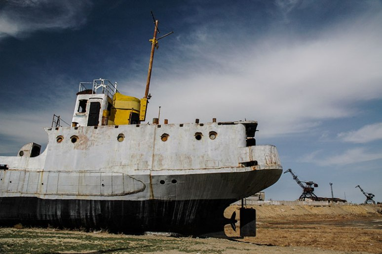 Beached Ship, Aral, Kyzylorda Region, Kazakhstan