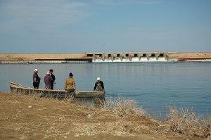 Fishermen, Kokaral Dam, Kyzylorda Region, Kazakhstan