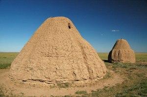 Kazakh Mausolea, near Kyzylzhar, Karaganda Region, Kazakhstan