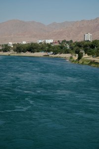 Syr Darya River, Khujand, Sughd Region, Tajikistan