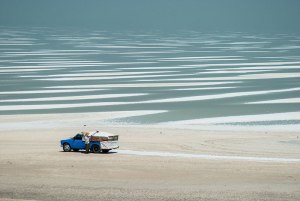 Salt Falts, Lake Urmia, West Azerbaijan Province, Iran