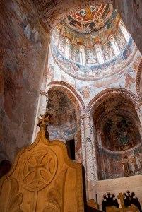 Frescoes, Saint Nicholas Church, Nikortsminda, Racha-Lechkhumi and Kvemo Svaneti Region, Georgia