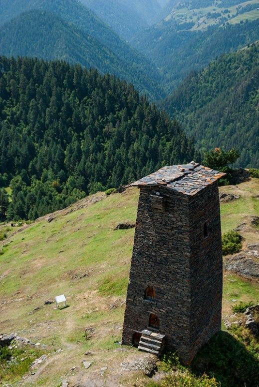 Keselo Fortress, Upper Omalo, Kakheti Region, Georgia